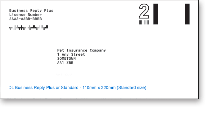 Royal Mail DL Printed Business Reply Envelopes